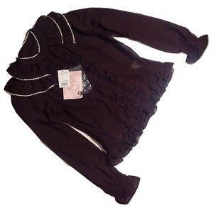 Metamorphose Detachable Collar Chiffon Blouse in Chocolate Lolita Fashion