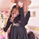 MA*RS Elegant Black Flared Skirt Gyaru Japanese Fashion