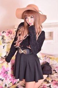 MA*RS Elegant Black Flared Skirt Gyaru Japanese Fashion