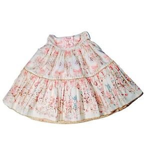 Angelic Pretty Sweetie Chandelier Skirt in White x Pink Lolita Fashion