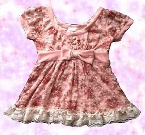 Liz Lisa Vintage Old Style Pink Roses Top Japanese Hime Gyaru Fashion