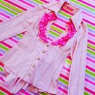 MA*RS Pink Check Shirt with Rhinestone Button Very Cute Featured in Ageha