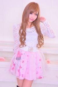 MA*RS Glitter Jewel Princess Pink Flared Skirt Gyaru Fashion