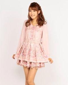 Liz Lisa Kawaii Beige Floral Onepiece Dress Japanese Fashion