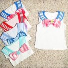 Sailor Moon Crystal x Tralala Replica Cosplay Costume Tank Top + Removable Bow