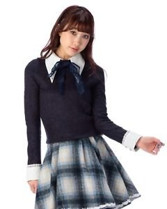 Liz Lisa Dark Blue Sweater Japanese Gyaru Fashion Shibuya 109
