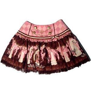 Angelic Pretty Chess Chocolate Skirt in Pink Lolita Fashion