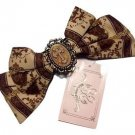 Metamorphose Royal Ornament Barrette Headbow in Chocolate Lolita Fashion