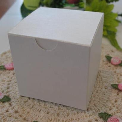 "Cube Box 2 3/8"" White Matte - 10 Pack"