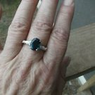 Indicolite Quartz 2.90ct Solitaire Ring in Sterling Silver size 8