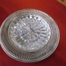 Vintage Oneida Silverplated Relish Platter with Dish In Original Box **EVC**