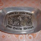 Vintage Wilton Armetale Pewter 'Give us This Day Our Daily Bread' Bread Plate