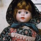 'Heritage Mint Ltd Collection' Porcelain Doll Girl Brenda W/Stand *Nice*