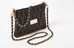 Valentino Vanille Italian Leather Convertible Crossbody Shoulder Bag Black
