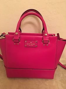 Kate Spade Leather Camryn Small Satchel Shoulder Bag Crossbody Sweetheart Pink