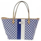 Kate Spade Small Margareta Penn Place Tote Shoulder Bag Hyacinth Navy Blue White