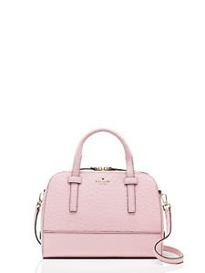 Kate Spade Riverside Street Ostrich Small Felix Crossbody Shoulder Bag Posy Pink