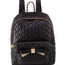 Betsey Johnson Be Mine Forever 4 Ever Quilted Heart Backpack School Bag Black