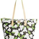 Dooney & Bourke Bougainvillea Zip Top Shopper Shoulder Bag Tote Floral Black
