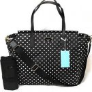 Kate Spade Taden Large Baby Diaper Bag Tote Shoulder Bag Diamond Dot Black Cream