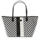 Kate Spade Small Margareta Penn Place Tote Shoulder Bag Black White Stripe