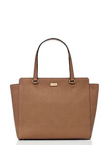 Kate Spade Bristol Drive Elissa Large Shoulder Tote Bag Pipe Gray Taupe Brown