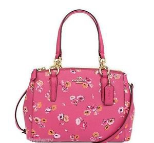 Coach Mini Christie Small Sachel Shoulder Bag Crossbody Pink Wildflower Floral