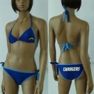 San Diego Chargers 2 Piece Bikini Stretch Navy Blue Sz Medium Large or X-Large