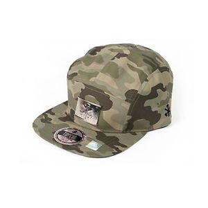 Topcul Urban Green Army Camo Hat Pull Close Silver Medallion Flat Rim NEW W/ TAG