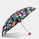 Coach Exploded Wildflower Rainbow Print Mini Umbrella Retractable Floral Flowers