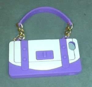 NIB Rolf  Handbag Shape Cell Phone Case for Iphone 4S & 4G Purple Nude Beige