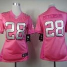 Nike Vikings #28 Adrian Peterson Pink Women's Be Luv'd Stitched Elite Jersey Med