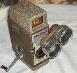 Bell & Howell 8 mm movie camera