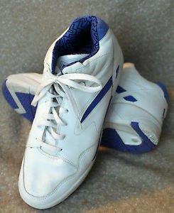 ba83f294ac16 Vintage 1993 90 s LA Gear High Top Basketball Shoes Size 12 White Blue EUC