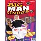 BIG MAN UNDIES UNDERWEAR White Funny Gag Joke Prank Men Bachelorette Party Gift