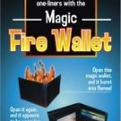 Deluxe HOT FIRE LEATHER WALLET Bar Magic Trick Flame Flaming Money Catches Joke