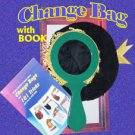 New BLACK CHANGE BAG + 101 TRICKS BOOK Magic Clown Kid Show One Hand Stage Prop