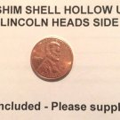 1 STEEL SHIM SHELL US PENNY HEAD Dime Magic Trick Hollow Coin Magnetic Vanishing