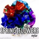 MYLAR SPRING FLOWERS BOUQUET Magic Trick Set 1 Pack Appearing Multi Color Stage