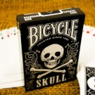 1 BICYCLE SKULL DECK of Playing Cards Poker Game Black Magic Pirate Occult Bones