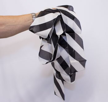 ZEBRA SILK STREAMER Black White Stripes Striped 4'' x 16' Magic Trick Magician