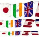 "Small PRODUCTION STRING OF FLAGS Silk Magic Trick Magician Prop 3"" x 2"" Size Set"