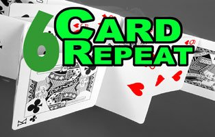 New SIX CARD REPEAT Magic Trick Close Up Bar Playing Deck Comedy Gag Beginner 6