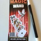 "MAGIC WAND 10"" Plastic Magician Wizard 7 Tricks Kid Black White Tip Stick Toy"