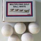 APPEARING MULTIPLYING GOLF BALLS White Plastic Hollow Magic Trick Set Magician