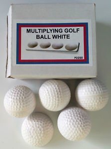 APPEARING MULTIPLYING GOLF BALLS White Plastic Hollow Magic Trick Set Magician