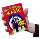 """POCKET SIZE COLORING BOOK of MAGIC Trick 4""""x5"""" inch Clown Kid EZ Beginner Toy"""