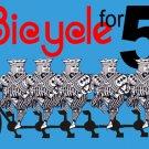 BICYCLE BUILT FOR FIVE PLAYING CARDS Joker Magic Trick Joke Pocket Close Up 5