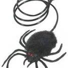 BLACK JUMPING SPIDER Big Bug Fake Prank Joke Gag Halloween Jump Hopping Cat Toy