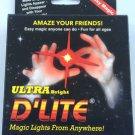 ULTRA BRIGHT D'LITE THUMB TIPS 2 Finger Magic Trick Magician RED PAIR LED Light